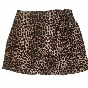 Shein Leopard Print Mini Skirt-2XL